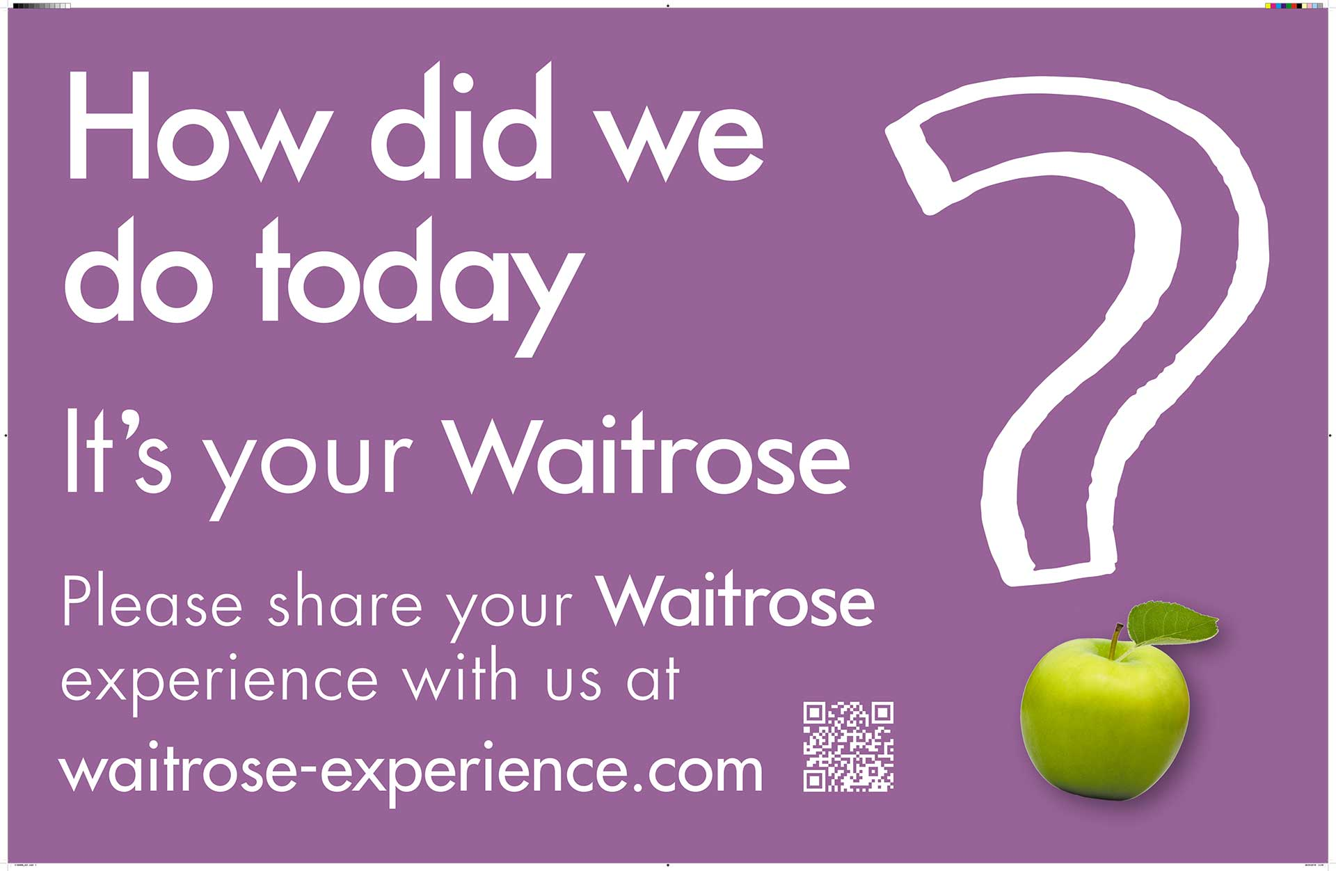 Waitrose Customer Service Experience Board
