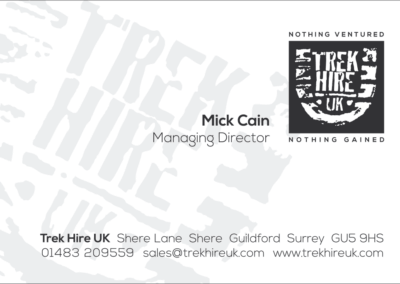 Trekhire UK Business Card Design and Printing
